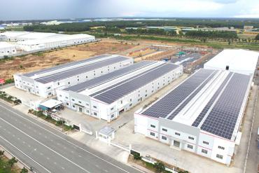 KTG Industrial deployed rooftop solar energy system for ready-built factory in An Phuoc Industrial Center