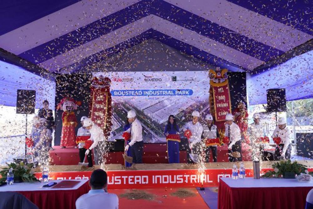 GROUNDBREAKING CEREMONY FOR BOUSTEAD INDUSTRIAL PARK PHASE 2A MANAGED BY BOUSTEAD & KTG INDUSTRIAL MANAGEMENT COMPANY